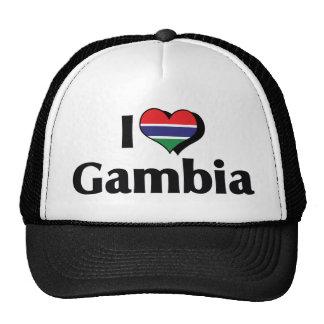 I Love Gambia Flag Trucker Hat