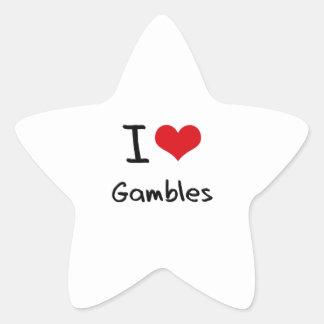 I Love Gambles Star Sticker
