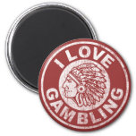 I Love Gambling 2 Inch Round Magnet