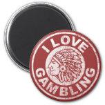 I Love Gambling 2 Inch Round Magnet