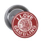 I Love Gambling Button
