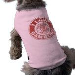 I Love Gambling Doggie Tee Shirt