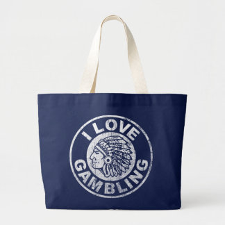 I Love Gambling Large Tote Bag