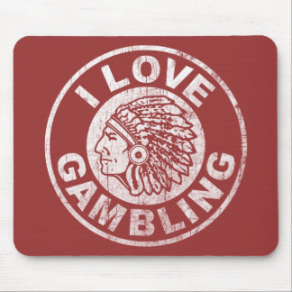 I Love Gambling Mouse Pads