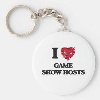 I Love Game Show Hosts Basic Round Button Keychain