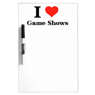I Love Game Shows Dry-Erase Board