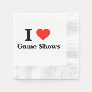 I Love Game Shows Paper Napkin