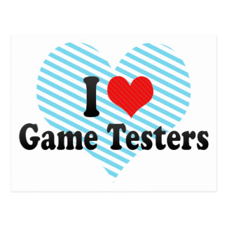 I Love Game Testers Postcards