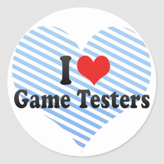 I Love Game Testers Sticker