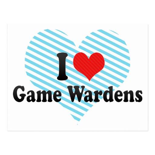 I Love Game Wardens Postcards