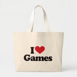 I Love Games Canvas Bag
