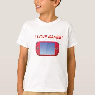 I Love Games Kids Shirt