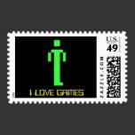 I Love Games Stamp