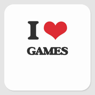 I Love Games Stickers
