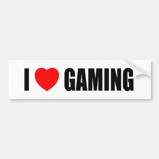 I Love Gaming Bumper Sticker