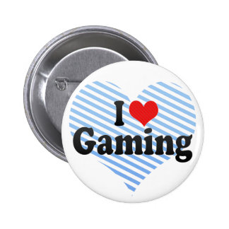I Love Gaming Pinback Buttons