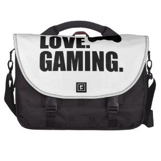 I Love Gaming Laptop Messenger Bag