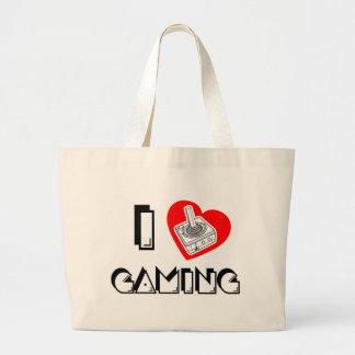 I love Gaming Large Tote Bag