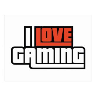 I Love Gaming Postcard