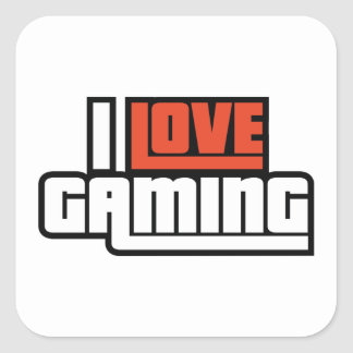 I Love Gaming Square Sticker