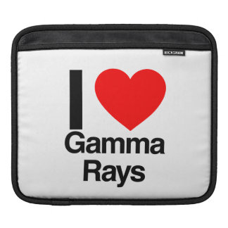 i love gamma rays iPad sleeve