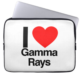 i love gamma rays laptop sleeve