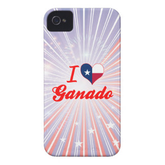 I Love Ganado, Texas iPhone 4 Covers