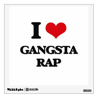 I Love GANGSTA RAP Wall Stickers