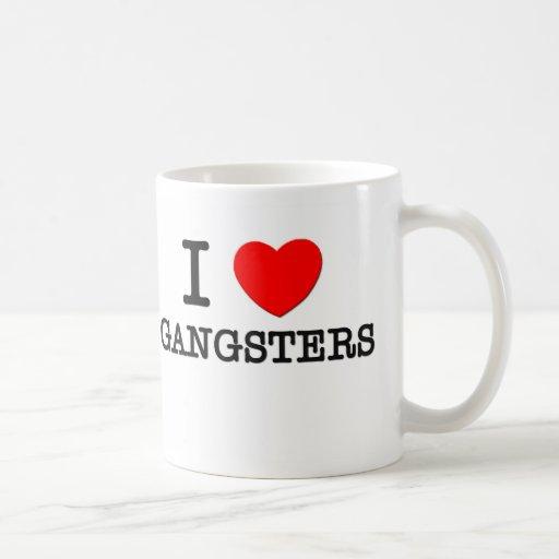 I Love Gangsters Classic White Coffee Mug