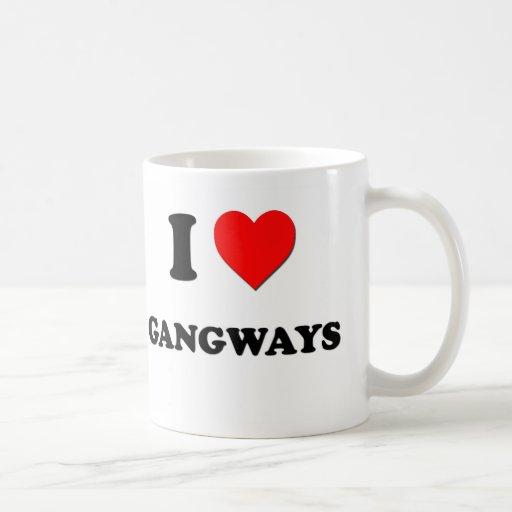 I Love Gangways Classic White Coffee Mug