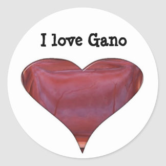 I love Gano Stickers