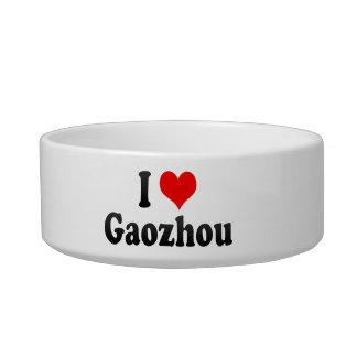 I Love Gaozhou, China. Wo Ai Gaozhou, China Cat Water Bowl