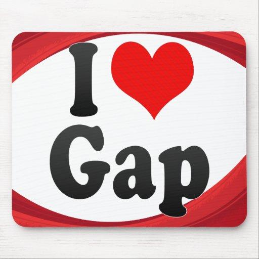 I Love Gap, France. J'Ai L'Amour Gap, France Mouse Pad