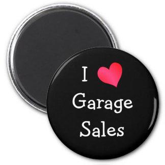 I Love Garage Sales 2 Inch Round Magnet