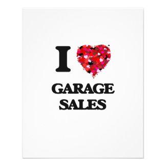 """I Love Garage Sales 4.5"""" X 5.6"""" Flyer"""