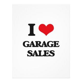 """I love Garage Sales 8.5"""" X 11"""" Flyer"""