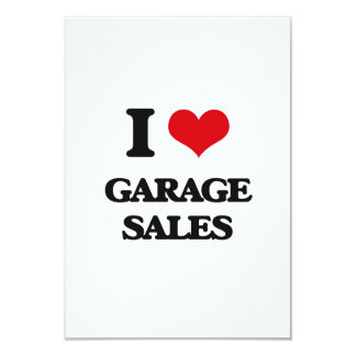 I love Garage Sales 3.5x5 Paper Invitation Card
