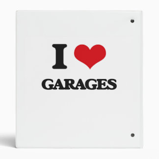 I love Garages 3 Ring Binder