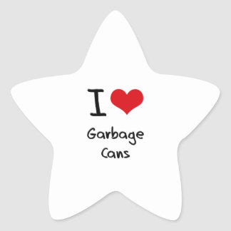 I Love Garbage Cans Star Sticker