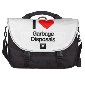 i love garbage disposals laptop commuter bag