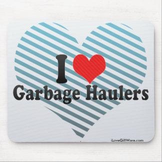 I Love Garbage Haulers Mousepads