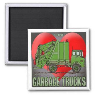 I Love Garbage Truck Greens Magnet
