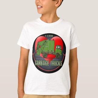 I Love Garbage Trucks Kids T-Shirt