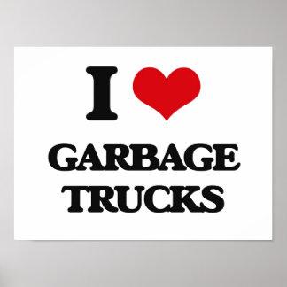 I love Garbage Trucks Poster