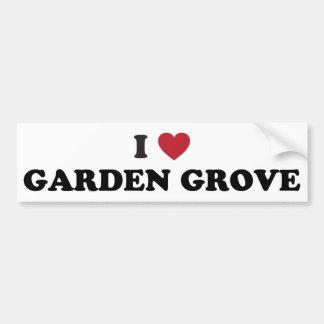 I Love Garden Grove California Car Bumper Sticker