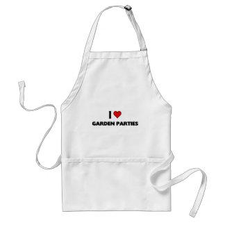 I love garden parties adult apron