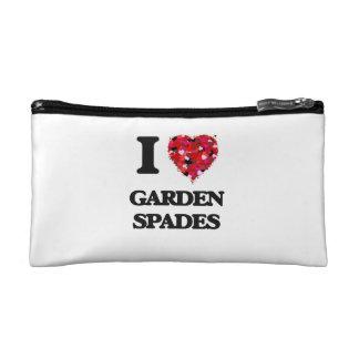 I Love Garden Spades Cosmetics Bags