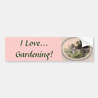 I Love Gardening! Bumper Sticker Car Bumper Sticker