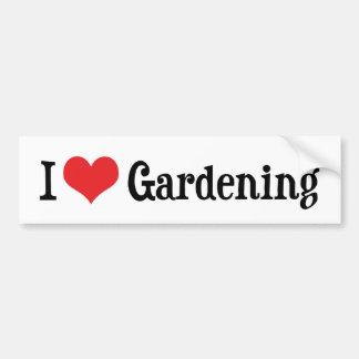 I Love Gardening Bumper Sticker Car Bumper Sticker