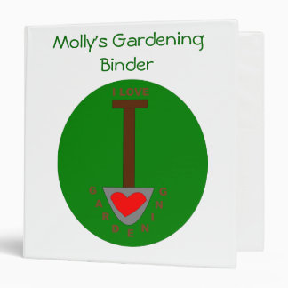 I Love Gardening Custom Gardening Binder